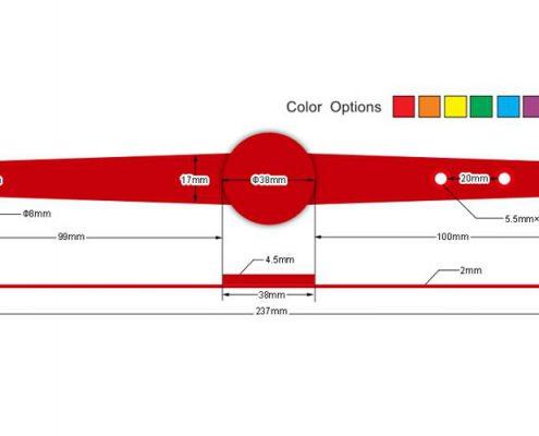 pvc rfid wristband PVC007-3