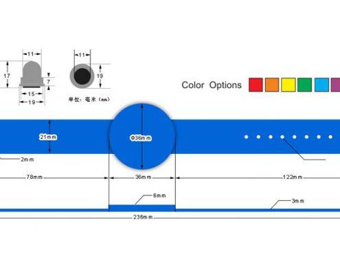 pvc rfid wristband PPVC008-3