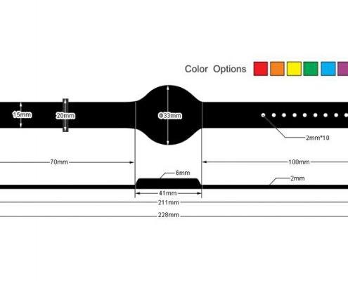pvc rfid wristband PVC009-3