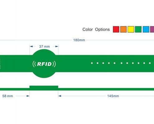 pvc rfid wristband PVC0012-3
