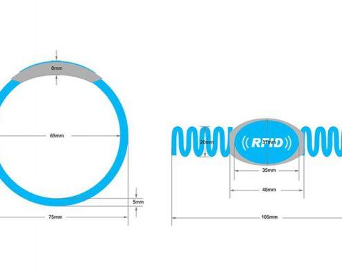 RFID plastic wristband SJ002-3