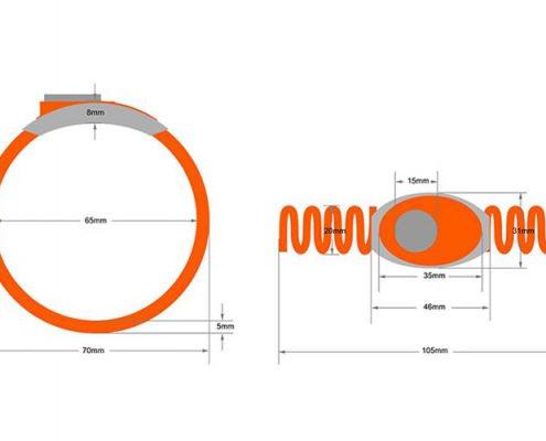 RFID plastic wristband SJ003-3