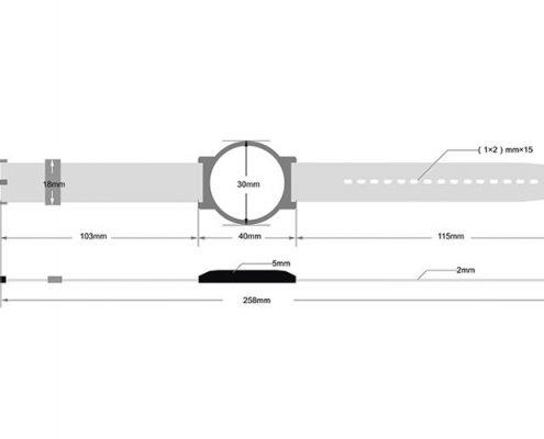 RFID plastic wristband SJ005-3