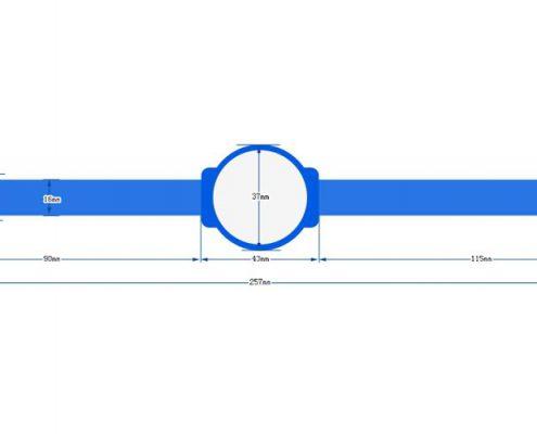 nylon RFID wristband SNL001-3