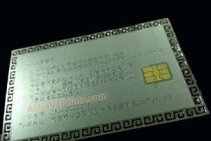 metal contact ic card