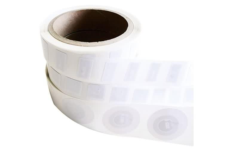 white nfc sticker