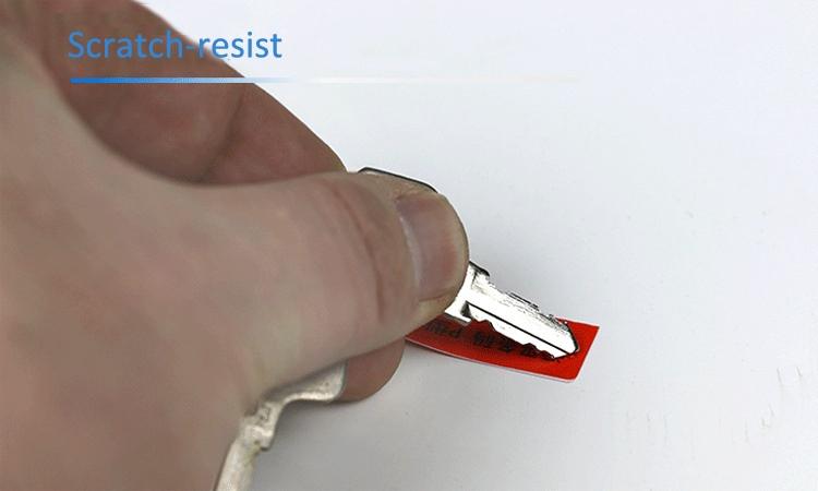 Scratch resistant cable label