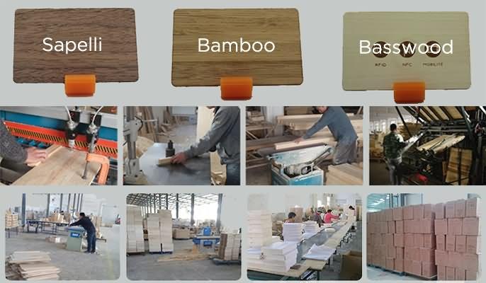 wood card process