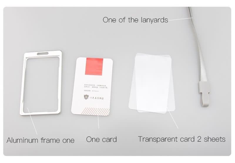 aluminum alloy badge card holder with lanyard