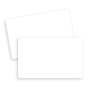 blank plastic cards