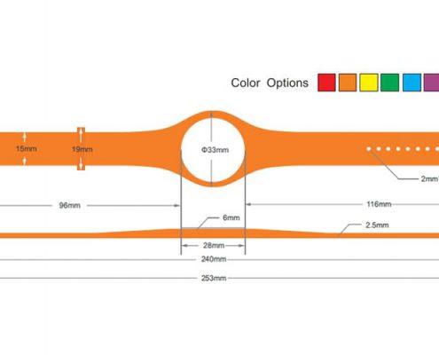 pvc rfid wristband PVC003-5