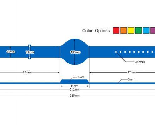 pvc rfid wristband PVC004-3