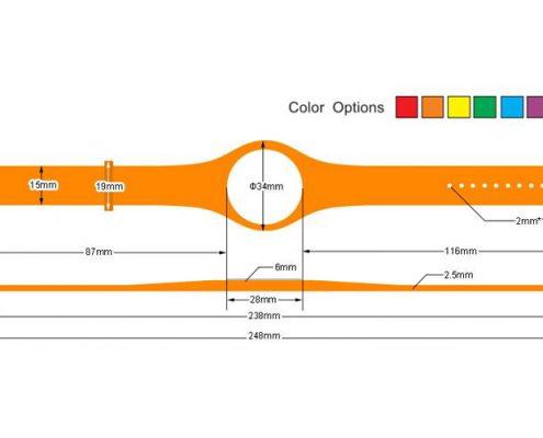 pvc rfid wristband PVC005-3