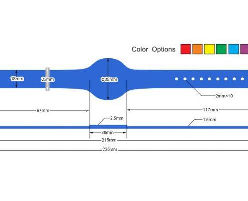 pvc rfid wristband PVC006-3