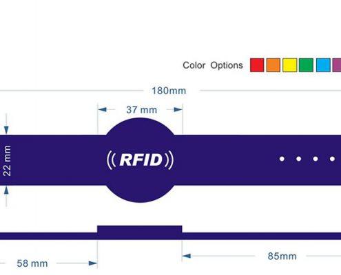 pvc rfid wristband PVC0011-3