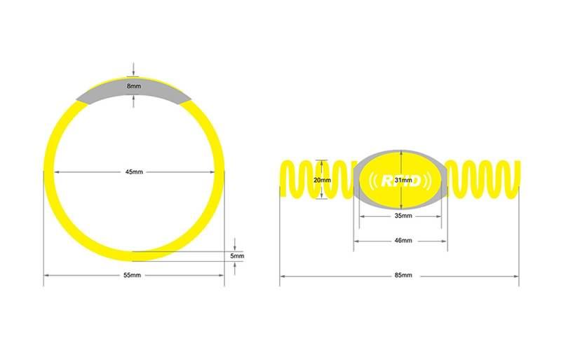 RFID plastic wristband SJ001-3