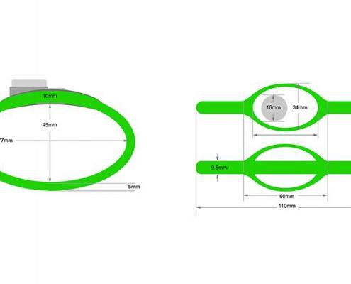 RFID plastic wristband SJ004-4