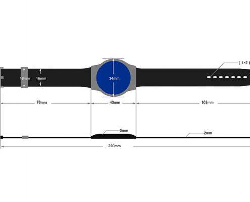 RFID plastic wristband SJ006-3
