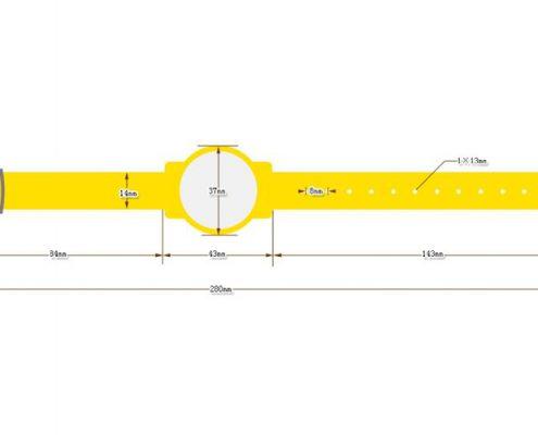 nylon RFID wristband SNL007-3