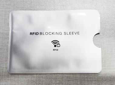 aluminum RFID Blocking Sleeve 90x60mm pantone