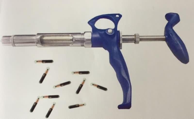 animal glass tag syringe