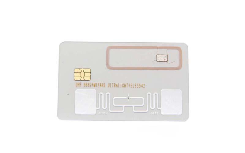 hf uhf contact dual interface card