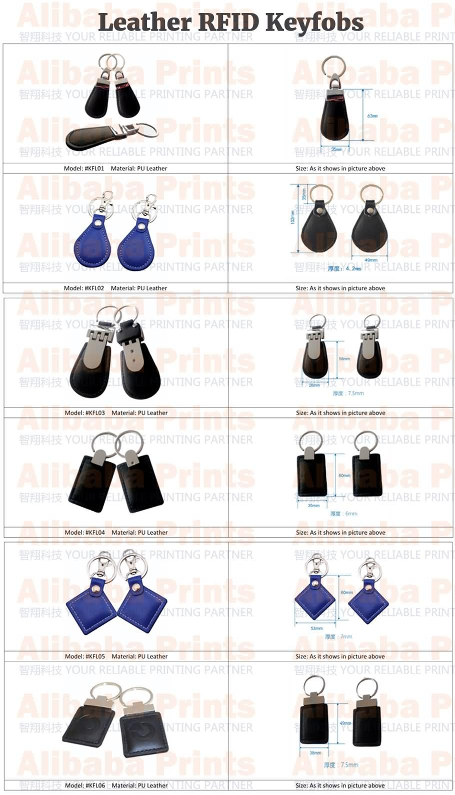 RFID leather keyfobs