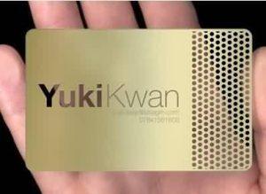 stainless steel metal card