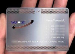 stainless steel metal cards
