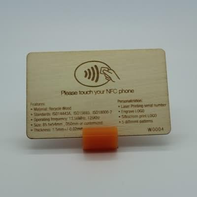 RFID F32 Wooden Card