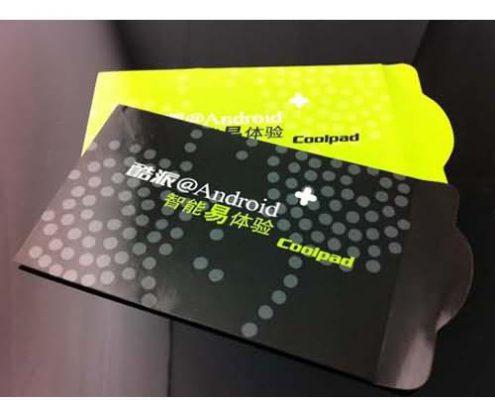 custom printing paper card sleeves