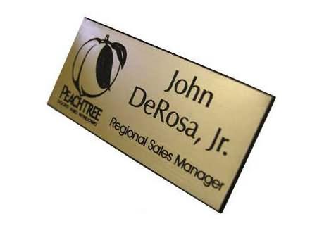 plastic engraved badge