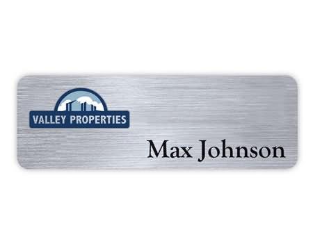 plastic engraved name badge