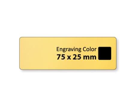 plastic engraved tag