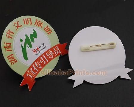 plastic printed name badge