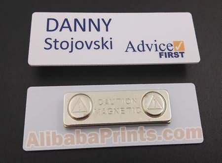 pvc plastic printed name badges