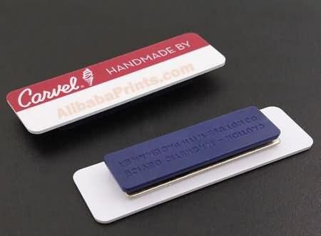 pvc printed name tag badge
