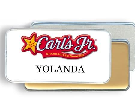 reusable name badges tags