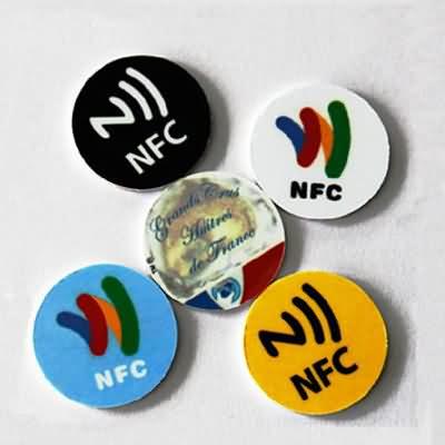 rfid nfc printed round tag